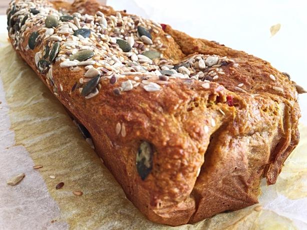 Hartig pompoenbrood