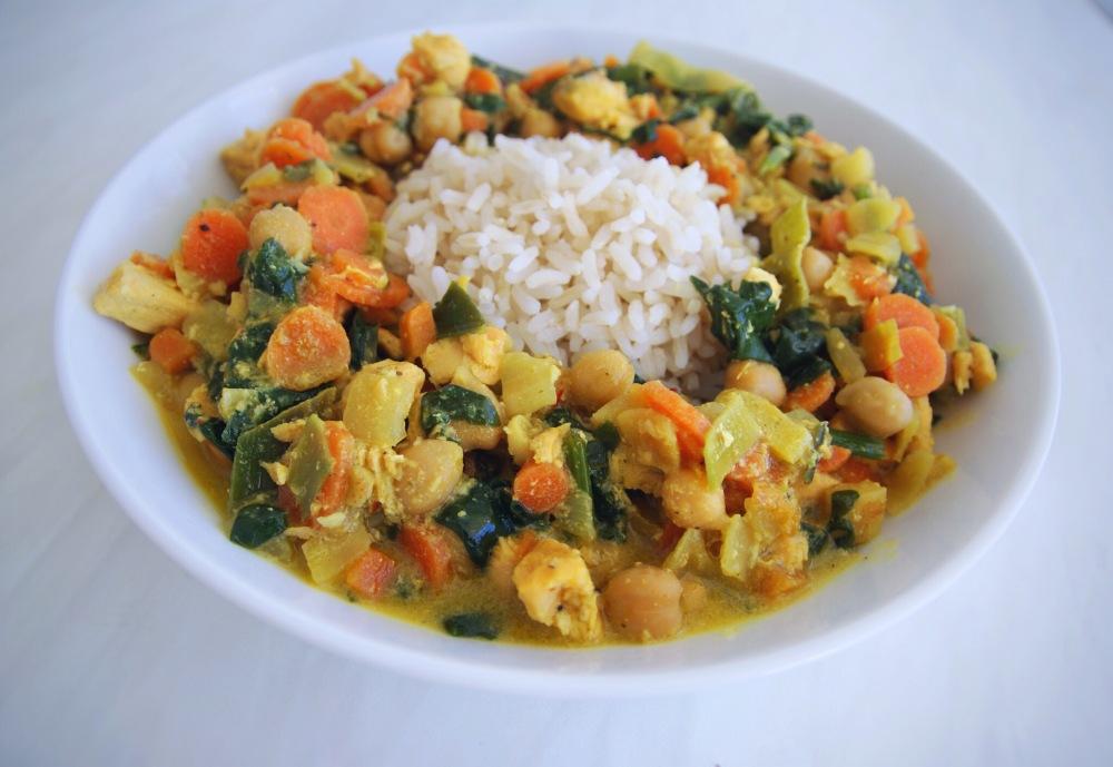 Vis curry, gezonde curry, gezonde recepten, gewichtsconsulent Leiden